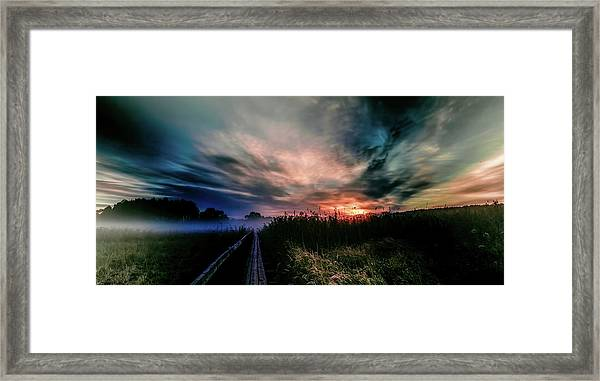 Explosive Morning #h0 Framed Print