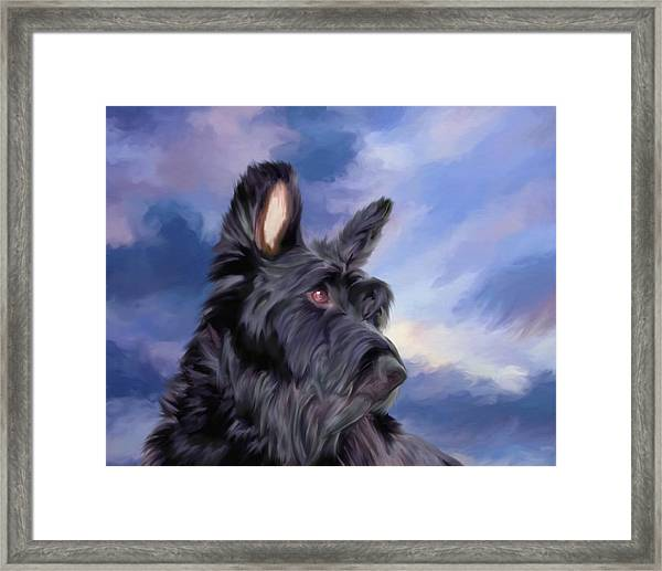 Expression Is Everything Scottish Terrier Dog Framed Print