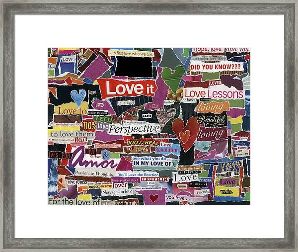 expression'd Love  Framed Print