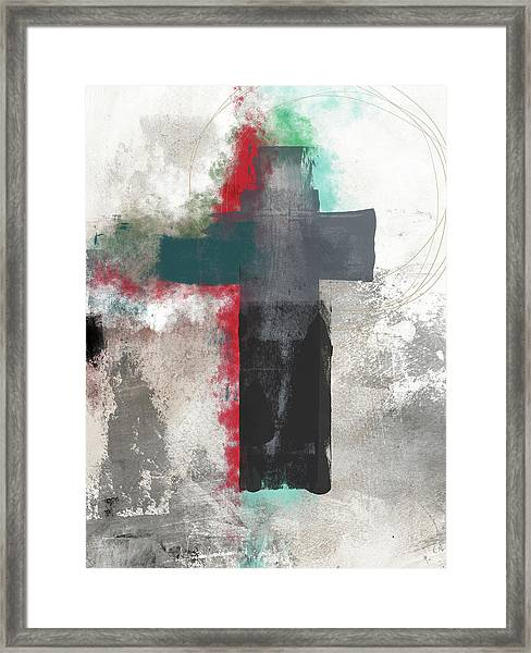 Expressionist Cross 4- Art By Linda Woods Framed Print