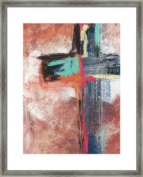 Expressionist Cross 5- Art By Linda Woods Framed Print