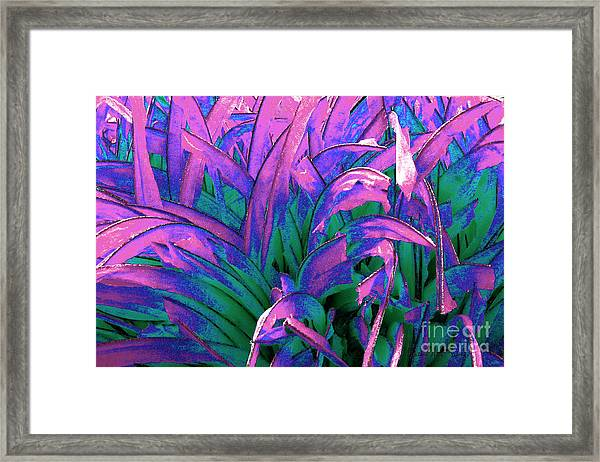 Framed Print featuring the painting Expressive Abstract Grass Series A1 by Mas Art Studio