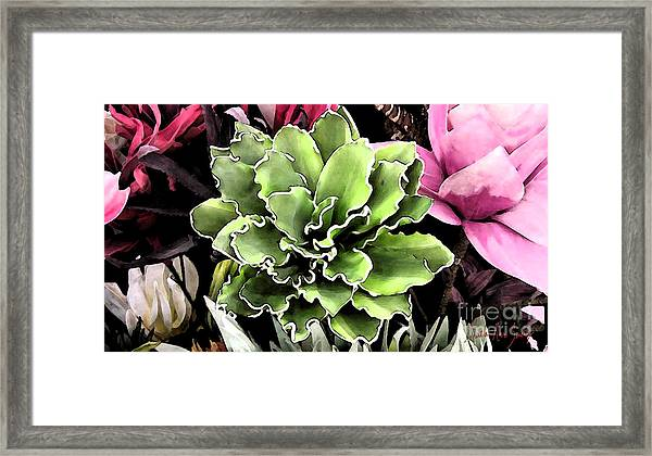 Framed Print featuring the painting Expressive Digital Tropical Floral Photo 001a by Mas Art Studio