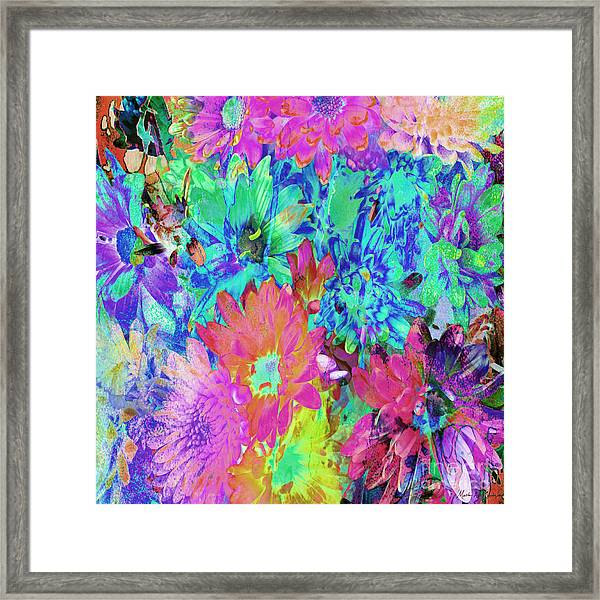 Framed Print featuring the painting Expressive Digital Still Life Floral B721 by Mas Art Studio
