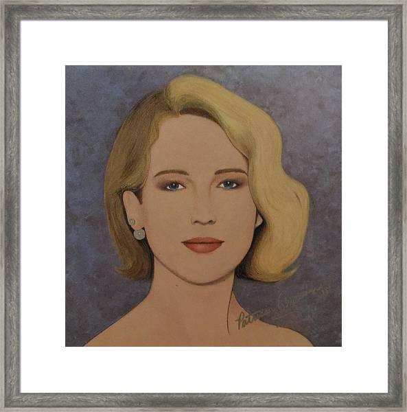 Exquisite - Jennifer Lawrence Framed Print
