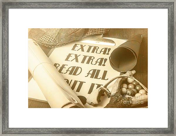 Extra Extra Read All About It Framed Print