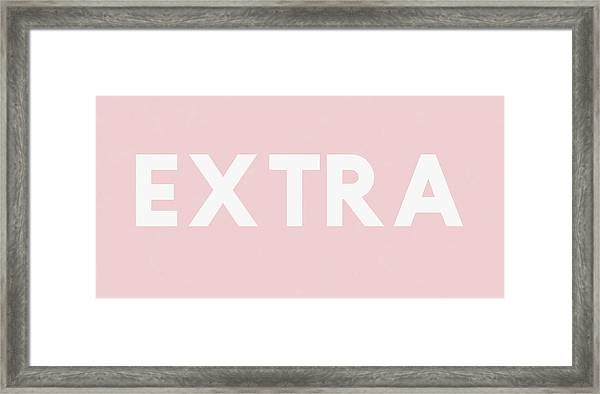 Extra Pink And White- Art By Linda Woods Framed Print