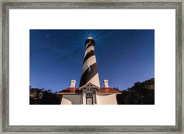 Extreme Night Light Framed Print