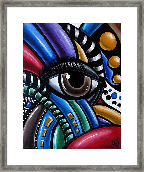 Eye Abstract Art Painting - Intuitive Chromatic Art - Pineal Gland Third Eye Artwork Framed Print