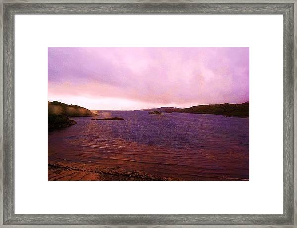 Eye Of A Storm Framed Print
