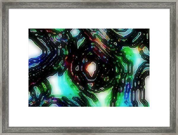 Eye Of The Cable Monster Framed Print