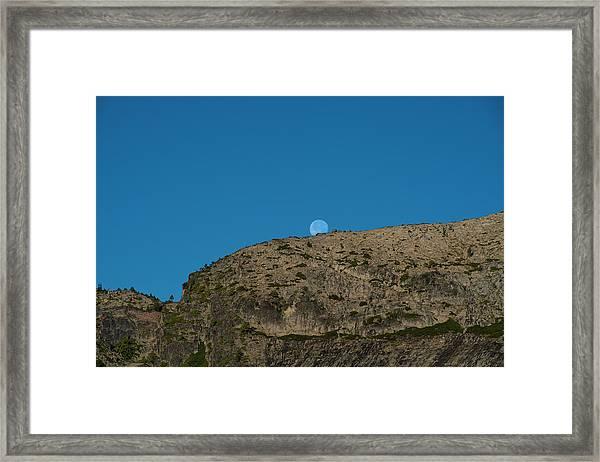 Eye Of The Mountain Framed Print