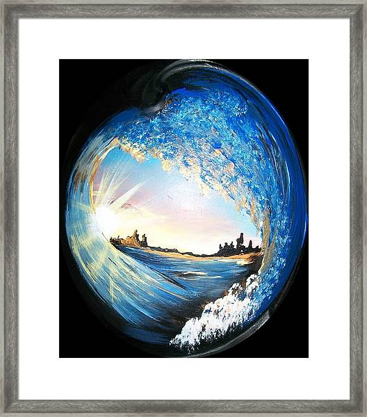 Eye Of The Wave Framed Print