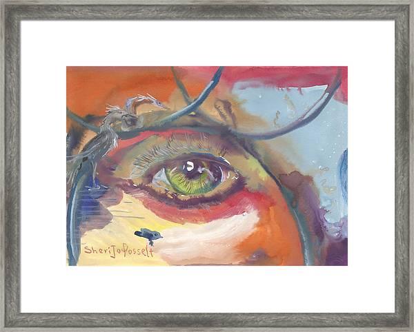 Eye See A Bird Framed Print