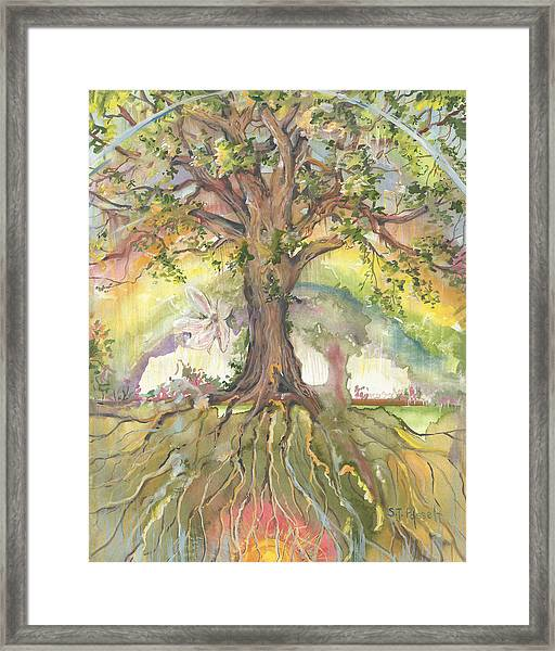 Eye See My Healing Tree Framed Print