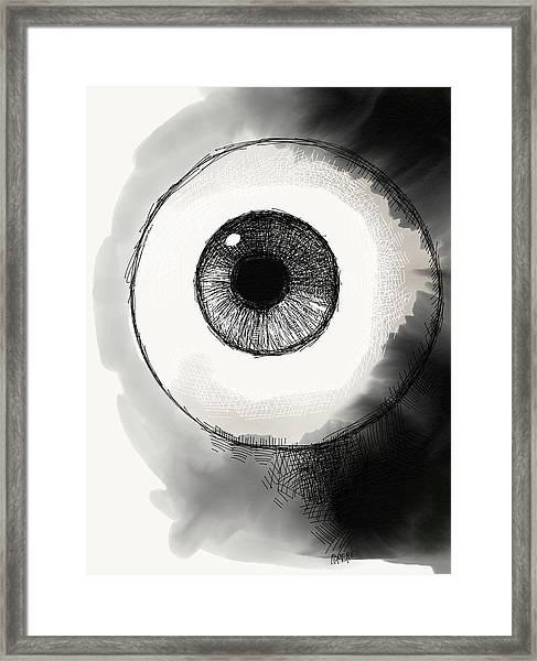 Framed Print featuring the digital art Eyeball by Antonio Romero