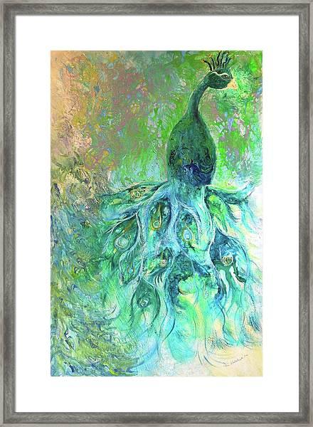 Eyes Of Eden Peacock Framed Print