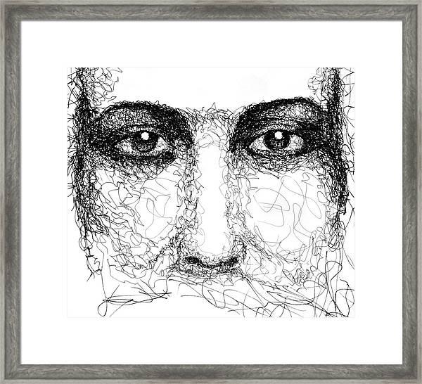 The Eyes Of Jesus Framed Print