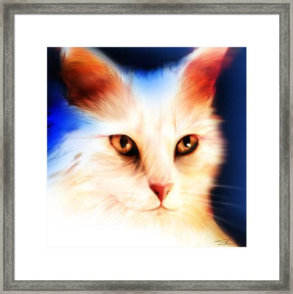 Framed Print featuring the mixed media Eyes by Shevon Johnson