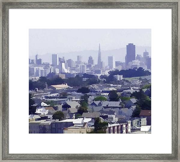 Looking East Toward San Francisco Framed Print