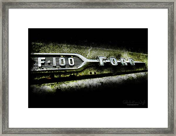 Framed Print featuring the photograph F-100 Ford by Glenda Wright