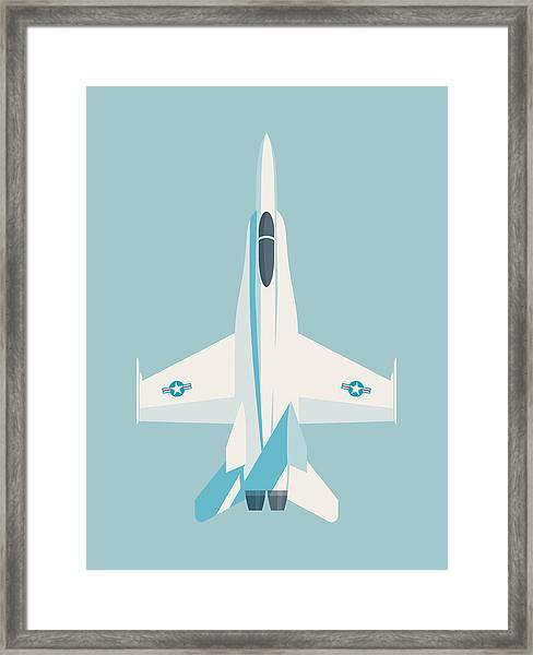 F-18 Hornet Jet Fighter Aircraft - Sky Framed Print