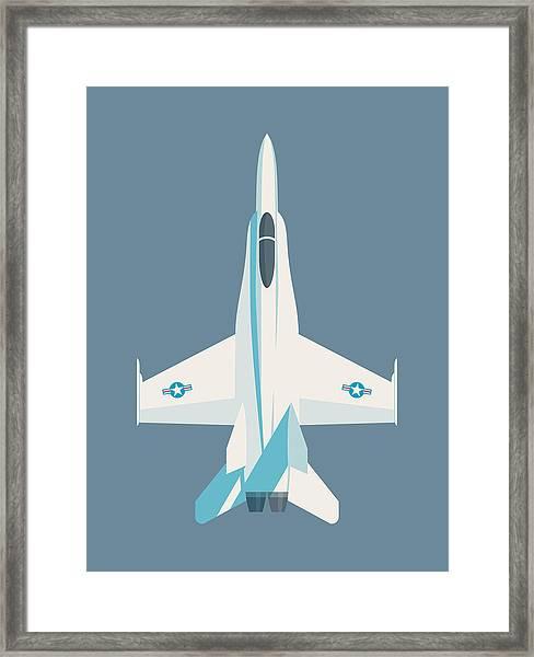 F-18 Hornet Jet Fighter Aircraft - Slate Framed Print