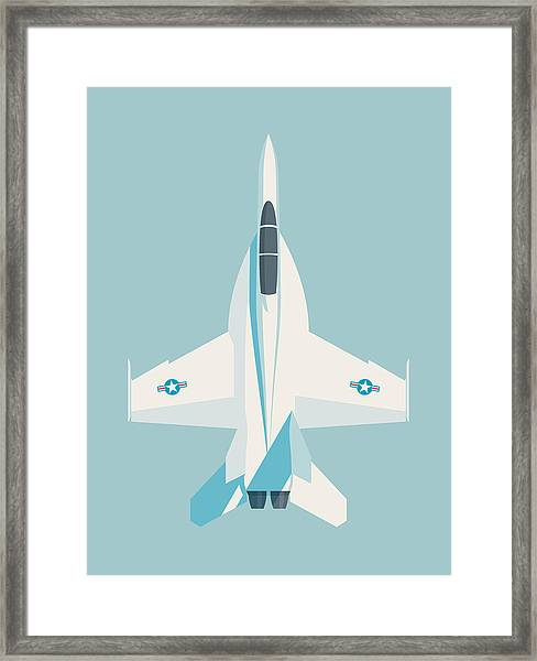 F-18 Super Hornet Jet Fighter Aircraft - Sky Framed Print
