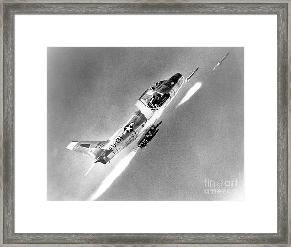 F-86 Sabre, First Swept-wing Fighter Framed Print
