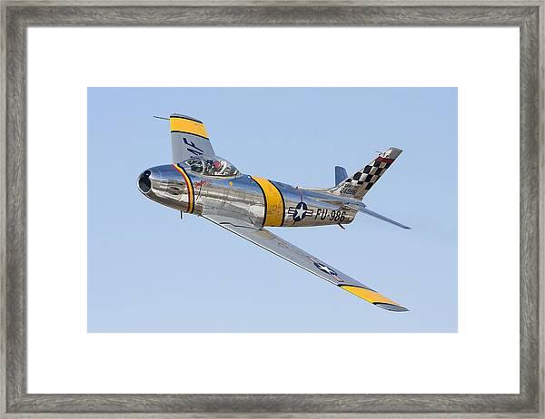 F-86 Sabre Flyby Framed Print