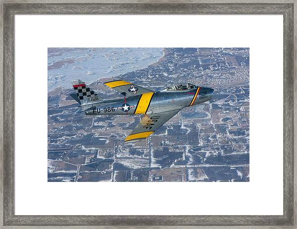 F-86 Sabre Flying 2 Framed Print