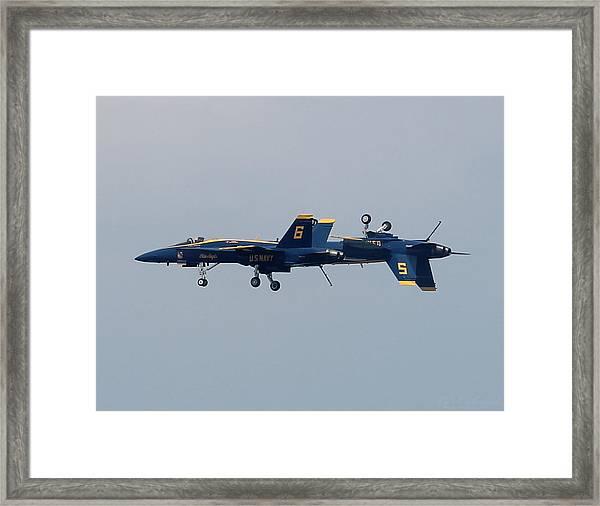 F/a 18 Hornet In Tandem Framed Print
