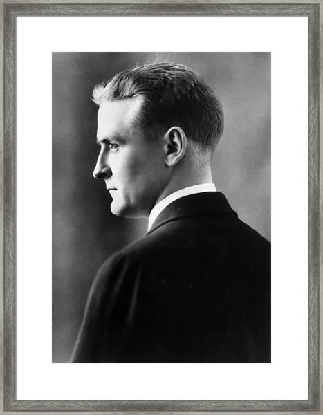 F. Scott Fitzgerald Circa 1925 Framed Print