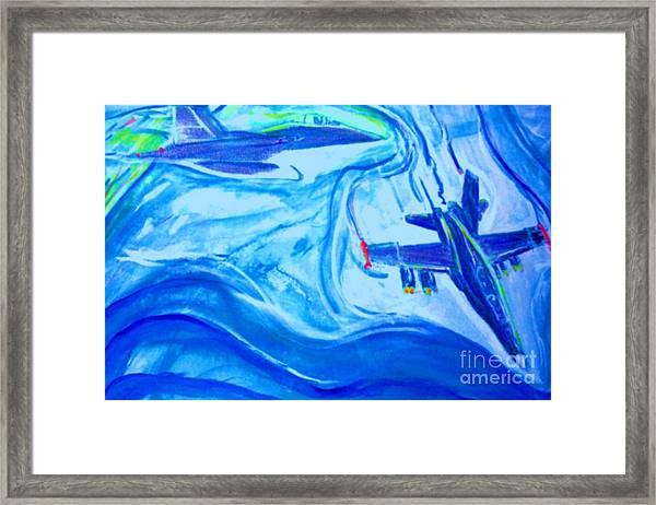 F18 Fighter Aircrafts In Flight Framed Print