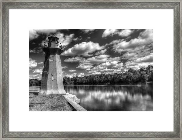 Fabyan Lighthouse On The Fox River Framed Print