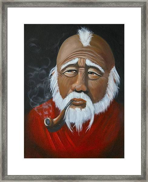 Face Of Asia Framed Print
