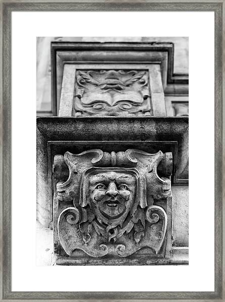 Face Of London Framed Print