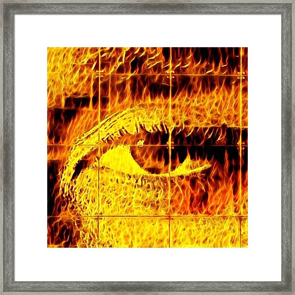 Face The Fire Framed Print