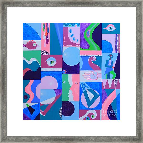 Face-to-face  Framed Print