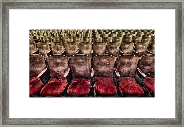 Face Your Audience Framed Print