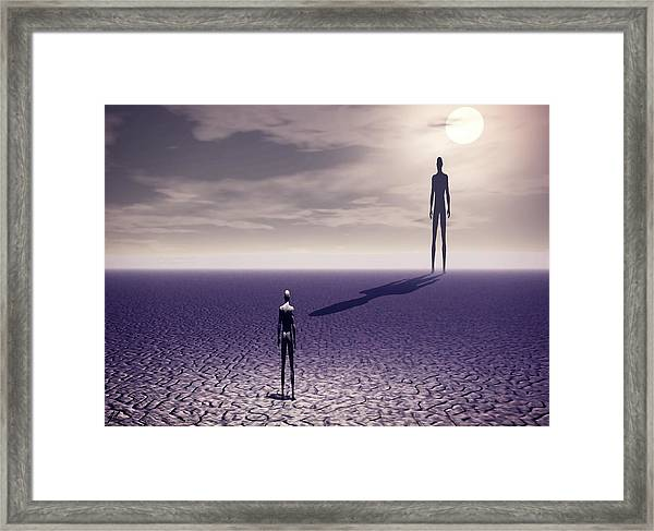 Facing The Future Framed Print
