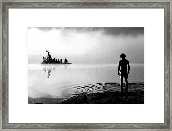 Facing The Island Framed Print