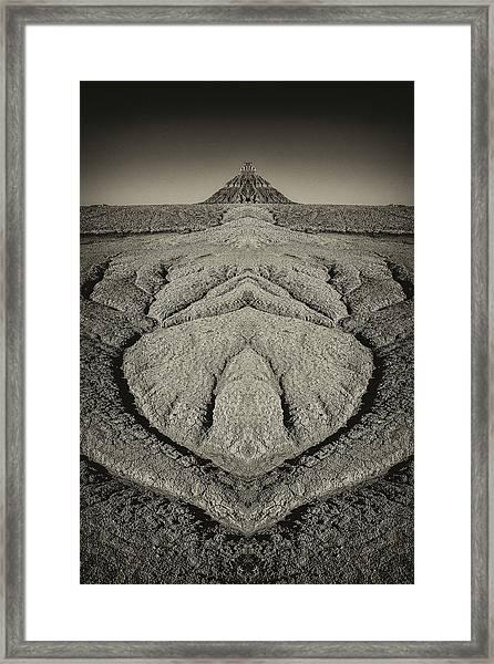 Factory Butte Digital Art Framed Print