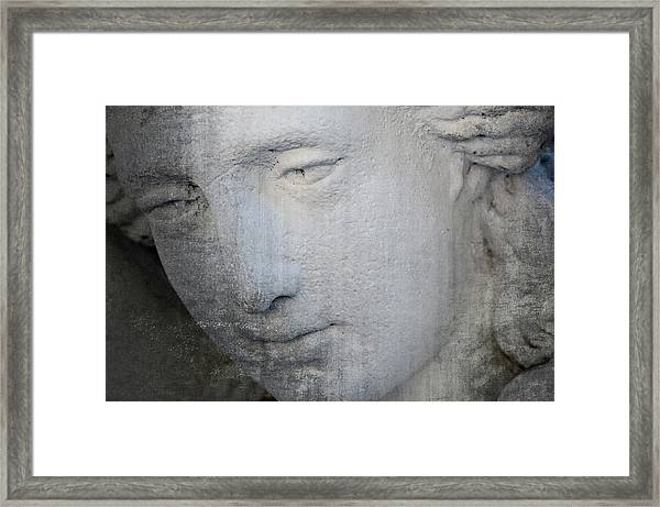 Faded Statue Framed Print