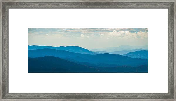 Fading Appalachians Framed Print