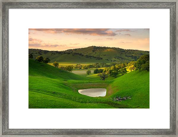 Fading Light At Round Valley Framed Print