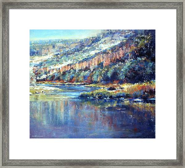 Faiding Light Framed Print by James Roybal