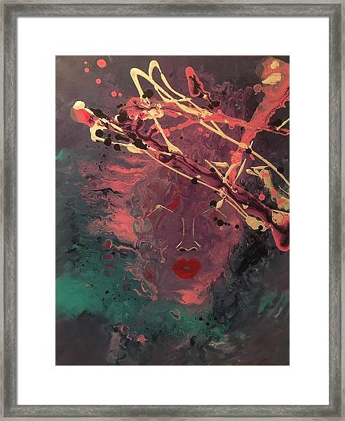 Illusion Of Her Framed Print