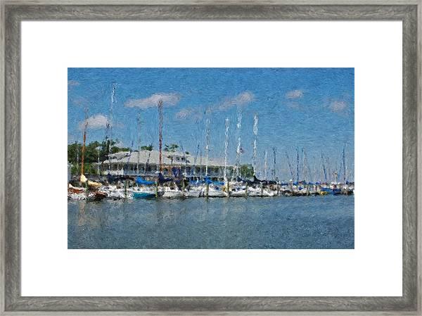 Fairhope Yacht Club Impression Framed Print