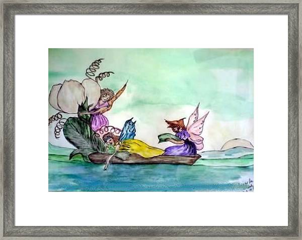 Fairies At Sea Framed Print